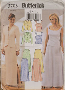 Butterick Sewing Pattern 3703 Wedding Skirt Jacket Top Dress 8-12 Petite UNCUT