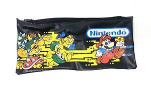 Vintage 1988 Nintendo Super Mario Bros Bowser Goomba Pencil Case School Pouch