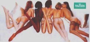 Original vintage poster SEXY LINGERIE 5 TOP MODELS 1997