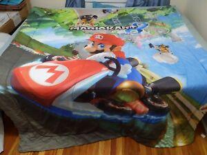 Erosebridal Gamepad Fitted Sheet for Kids Boys Children Teens Modern Gamer Bedding Set Video Game Controller Pattern Sheet Set Vintage Blue Bed Cover Lightweight Decorative Room TwinXL Size