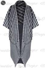 Sciarpe, foulard e scialli da donna poncho nero