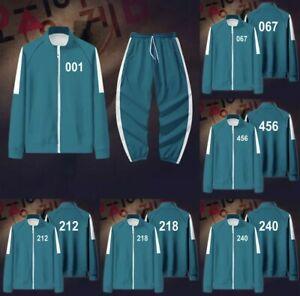Squid Game Jacket Pants Sweatshirts Set All Variants Costume Cosplay