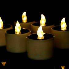 6PCS Solar Powered LED Candle Flameless Electronic Solar LED Tea Lights Lamp