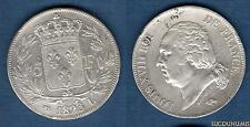 Louis XVIII 1815 - 1824 , 5 Francs Buste nu 1823 L Bayonne (2) TB