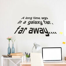 A long time ago Quote Star Wars Vinyl Art Wall Sticker Decals Decora Fine D5C