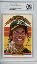 Rickey Henderson 1983 Donruss Diamond King Signed Autographed Card Beckett BAS
