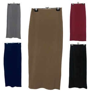 Thick Skirt Body con Slim Fit Stretch Long Maxi Women Pencil Skirt Muslim Ribbed