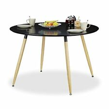 Relaxdays table À manger ronde Arvid Style Scandinave 6 - 8 personnes HXD 75...