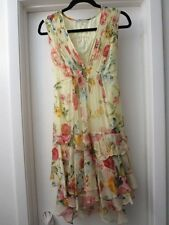 NWT Nanette Lepore Silk Floral Tiered Ruffled Whimsical Dress Sz 6 Orig 465.00
