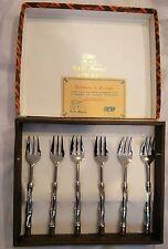 Dessert Forks in box + Certificate of Guarantee La. S. Marco Silver Plate