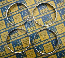 1958-1967 GM Headlight Bulb Retaining Rings. Stainless Steel. Set of 4