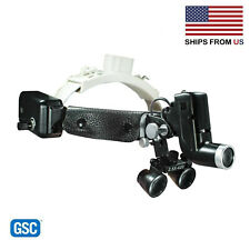 Dental Medical Surgical Headlight Headband Binocular 5w Led 25x
