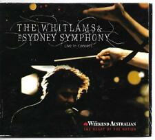 Whitlams & Sydney Symphony Live In Concert CD card sleeve (2008)