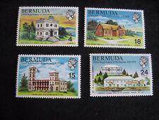 Bermudes: 1970 350th anniv du Parlement Set de 4, Légèrement Monté Comme neuf (MH)