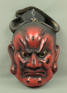 金剛力士 KONGORIKISHI Mask TODAI-JI Japanese traditional Dry Lacquer mask V360