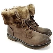 Mossimo Supply Co. Women's Katia Lined Ankle Boot Taupe Faux Fur Brown