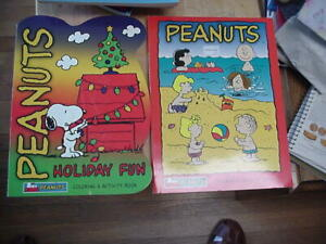 4 NEW PEANUTS COLORING & ACTIVITY BOOKS 2003