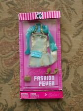 Barbie Mattel Fashion Fever Gold Dress Purse Shoes Outfit  NIB  2007 Box Damage