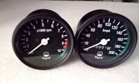SPEEDOMETER & TACHOMETER SET -RPM METER CLUSTER - YAMAHA RD250 RD 350 RD400 CAFE
