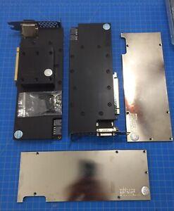 Lot Of 2 EVGA 980 TI GAMING GRAPHICS CARDS 06G-P4-4990-KR w EKWB Water-blocks
