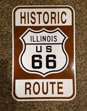 ORIGINAL 18X12 HISTORIC ROUTE 66 SIGN ILLINOIS HIGHWAY RT  66 SHIELD ROAD SIGN