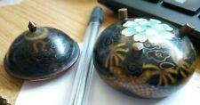 More details for stunning old japanese finest quality cloisonne lidded pot censer w 5 toed dragon