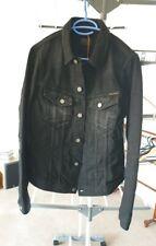 Nudie Billy denim jacket s small black grey blue navy distressed jeans