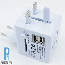 Universal/World/International Travel Adapter/Converter Plug Power US/UK/AU/EU/HK