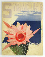 1938 Vintage ITALY Travel Brochure SYRACUSE Pizzi Pizzo Fold Out Map Guide Book