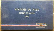 FRANCE 1976  Monnaie De Paris - Commemorative Mint Set of 9 Coins, Never Opened!