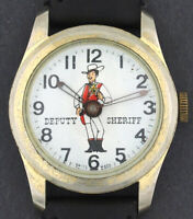 Vintage wind-up Deputy Sheriff Cowboy Western Character Watch
