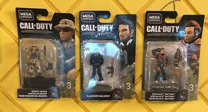 2018 MEGA CONSTRUX CALL OF DUTY Desert Sniper, Makarrov, Spec SERIES 3 Lot Of 3