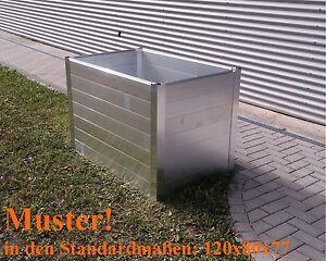 Aluminium Hochbeet Bausatz versch. Abmessungen Pflanzkasten Stabil WARTUNGSFREI