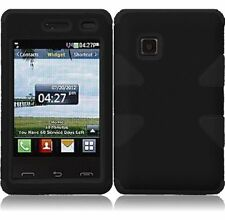 Dynamic Hybrid Tuff Hard Case for LG 840G - Black/Black