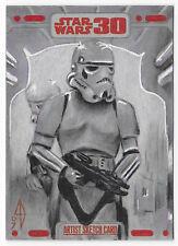 Star Wars 30th Anniversary Topps sketch card Len Bellinger Stormtrooper Tantive