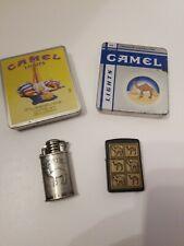 Camel Lights Vintage Lighters And Tins Lot