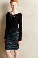 NEW Anthropologie Bobbinlace Black Green lace women Top XS S M L XL T-shirt