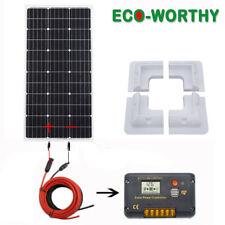ECO 100W Solar Panel kit 12V battery Charger 20A Controller Caravan Van Boat RV