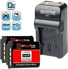 Baxxtar RAZER 600 5in1 Ladegerät + 2x Baxxtar PRO ENERGY Akku Sony NP-BX1