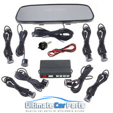 8 Sensors Front and Rear Car Reverse Parking Kit Rear View Mirror Display OFFER