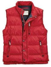 NEW Orvis Men's Essex Down Puffer Vest Size L Large Red w/Gray Lining
