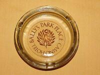 VINTAGE CIGARETTE BALLY'S PARK PLACE CASINO HOTEL ATLANTIC CITY NJ GLASS ASHTRAY