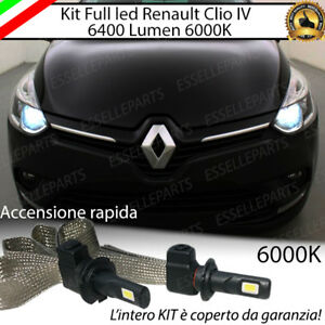 KIT FULL LED RENAULT CLIO IV RESTYLING LAMPADE LED H7 6000K BIANCO GHIACCIO