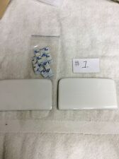 Danze DC031221 Ceramic floor bolt cover plates for one piece toilet in white