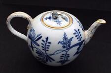 Antiq MEISSEN Germany Cross Swords TWIG Design Handle Spout Blue ONION 1L Teapot