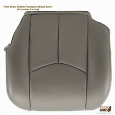2003,04,05,06 Cadillac Escalade Driver Bottom Perforated Leather Seat Cover Gray