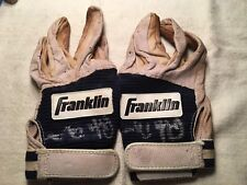 Ricky Bones Signed Game Used Batting Gloves Milwaukee Brewers Pitcher 90's MLB