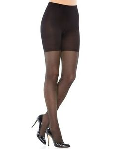 NWT SPANX Tight-End Tights Black Body Shaping Metallic Luxe Shimmer Pantyhose
