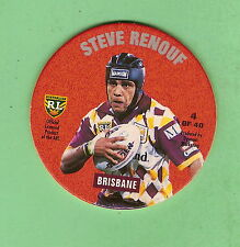 1994 NSW RUGBY LEAGUE TAZO #4 STEVE RENOUF , BRISBANE BRONCOS