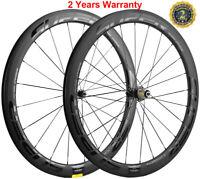 Full Carbon Fiber Wheelset 50mm Road Bike Clincher Bicycle Wheels 700C Racing